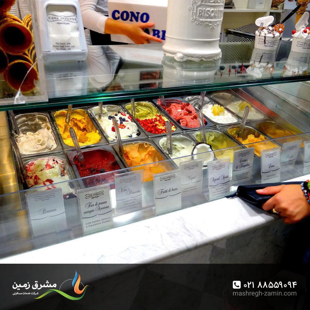 فروشگاه Casa Infante، یکی از بهترینها برای خرید بستنی و جلاتو در ناپل