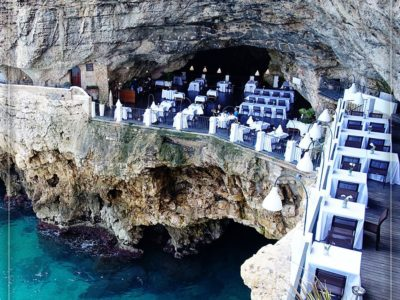 ایتالیا، هتل رستوران صخرهای Grotta Palazzese