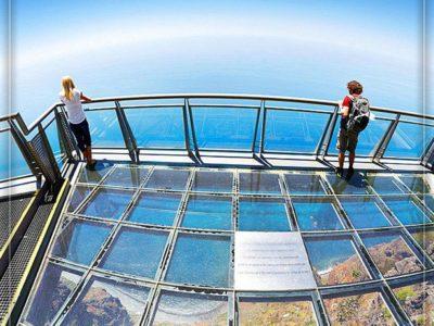 پرتغال، جزیره مادیرا – سکوی شیشهای در ارتفاع ۵۷۰ متری
